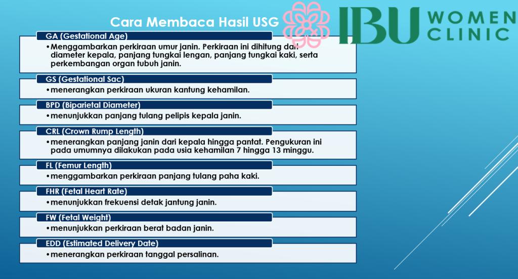 Cara Membaca Hasil USG